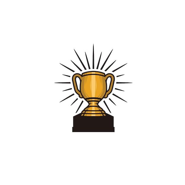 Trophy element isolated Premium Vector