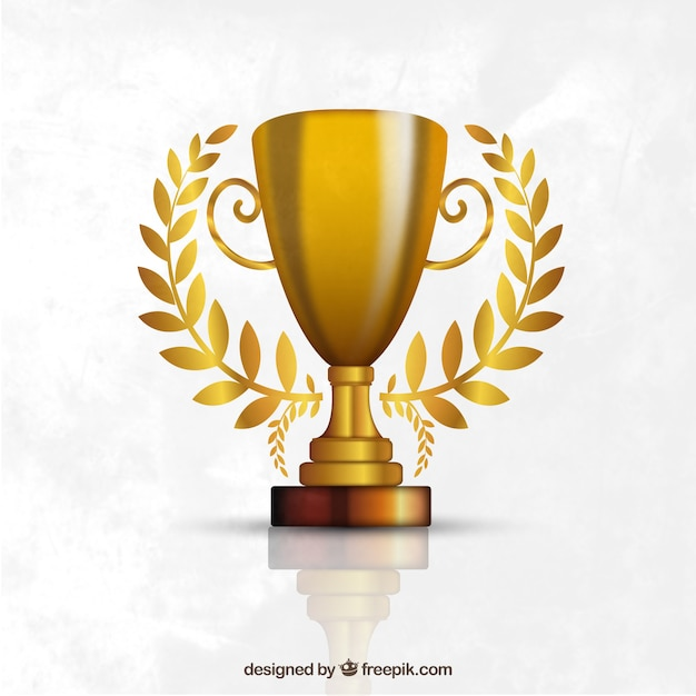 Trophy made of gold Free Vector