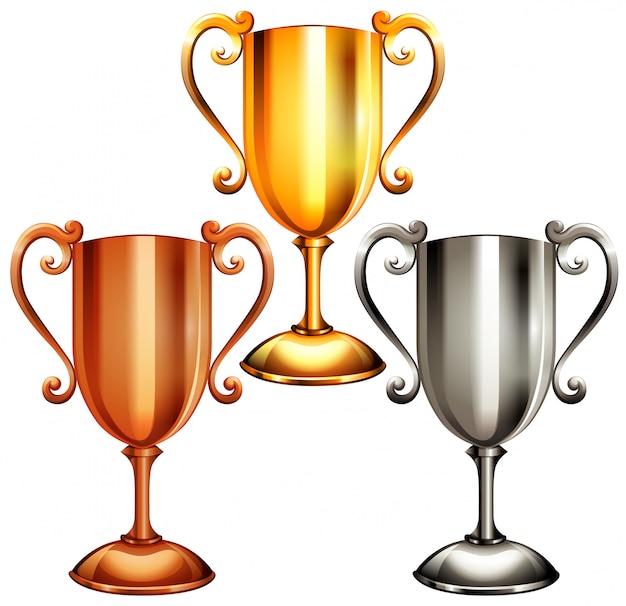 Trophy set Free Vector