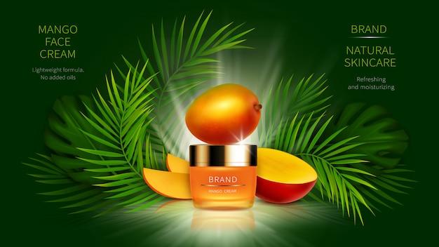 現実的な熱帯マンゴー化粧品 無料ベクター