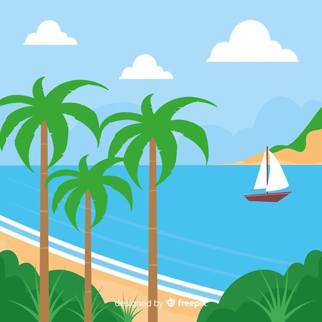 Tropical background vector beach\ landscape
