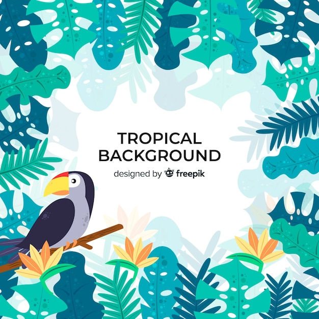 Tropical background with bird