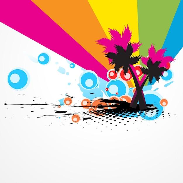 Illustrazione vettoriale astratta di albero colorato vettoriale Vettore gratuito