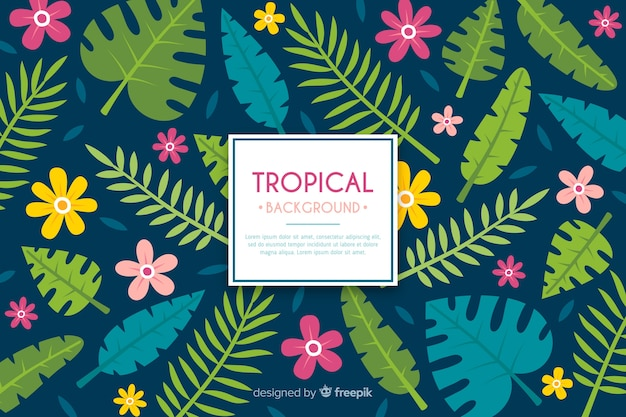 Tropical background Free Vector