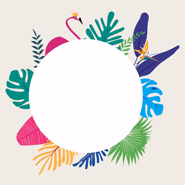 Tropical design space Free Vector