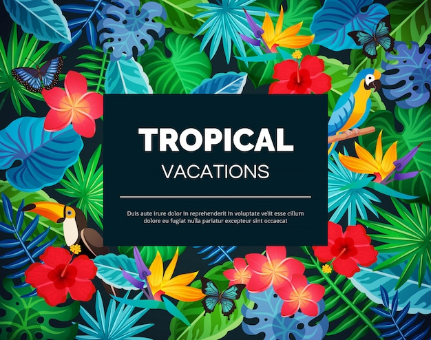Tropical exotic background Free Vector