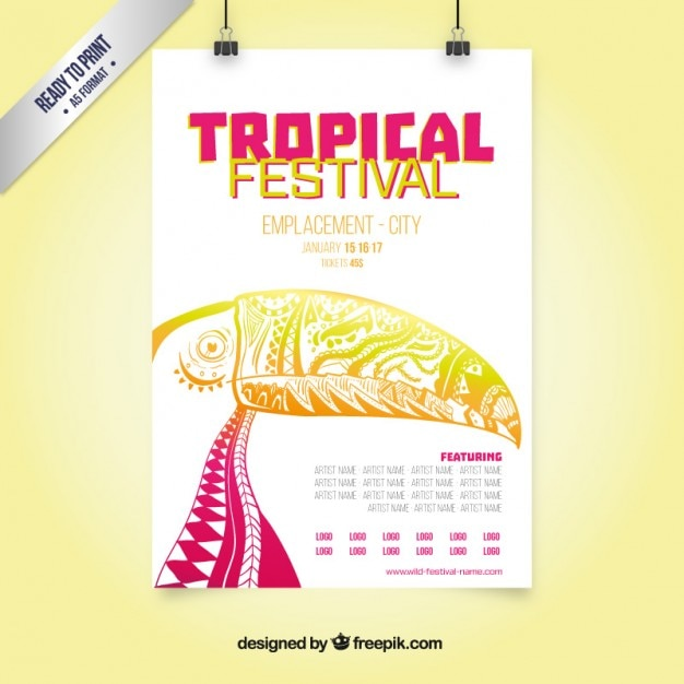 Tropical festival poster