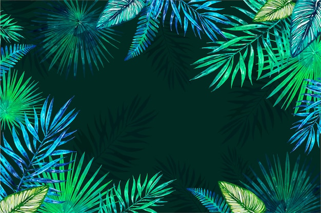 Tropical flowers background for zoom Free Vector