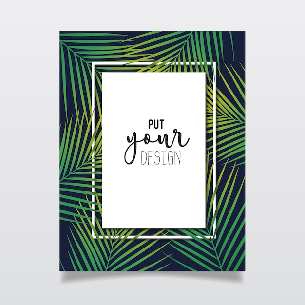 Tropical frame design Free Vector