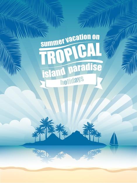 熱帯島ベクトル Premiumベクター