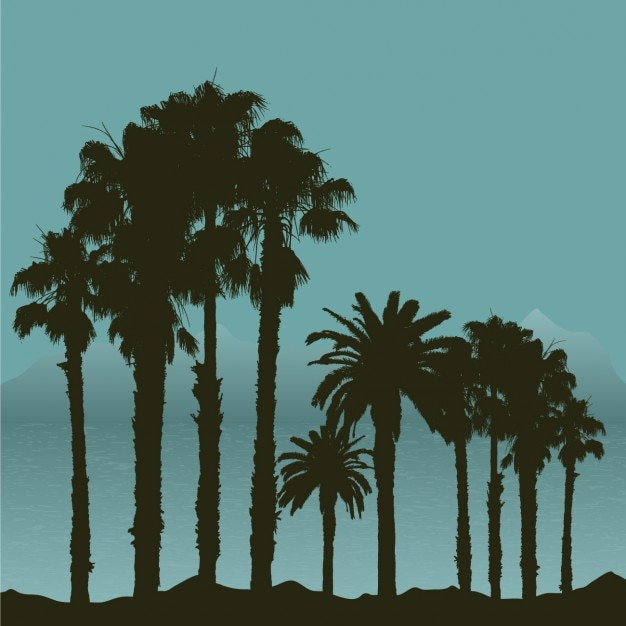 Tropical Landscape Silhouette | Stock Images Page | Everypixel