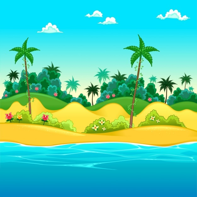 vector scenery tropical - photo #24