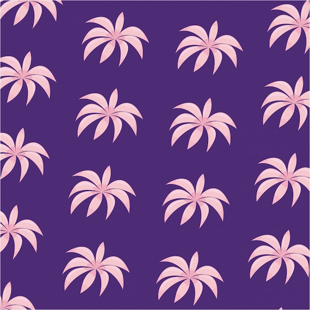 Tropical leafs icon pattern Premium Vector