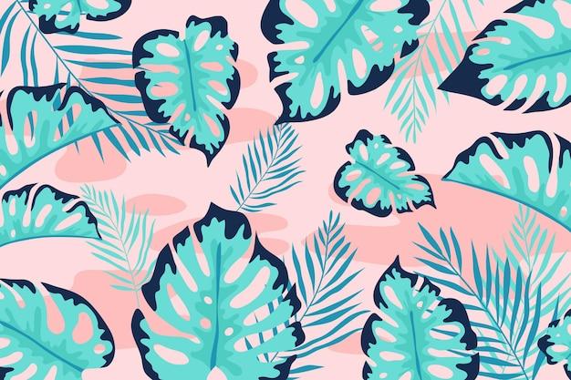 Concetto di sfondo foglie tropicali Vettore gratuito