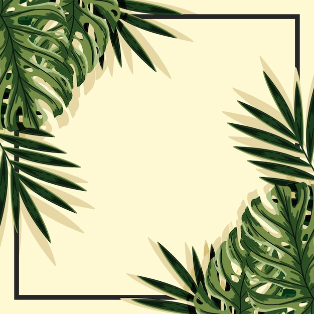 Free Vector Tropical Leaves Background With Frame 442,877 likes · 7,706 talking about this. vector tropical leaves background