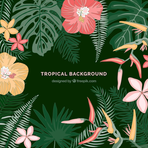 Free Vector Tropical Leaves Background Find images of tropical leaves. free vector tropical leaves background