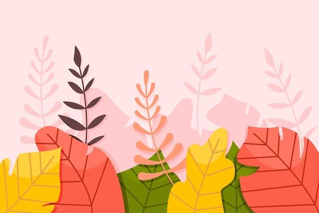 Тропические листья фон Бесплатные векторы