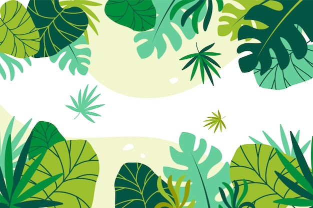 Premium Vector Tropical Leaves Background Choose from over a million free vectors, clipart graphics, vector art images, design templates, and illustrations created by artists worldwide! https www freepik com profile preagreement getstarted 7967643