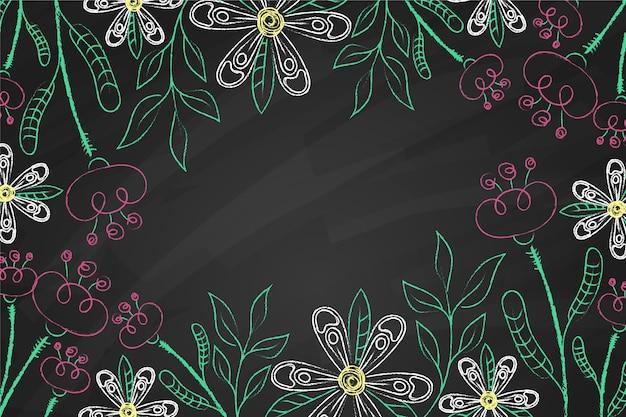 Тропические листья на доске Бесплатные векторы