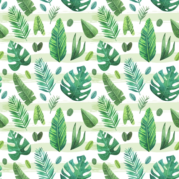 Tropical Leaves Pattern Background Vector Free Download Best Tropical Leaves Pattern