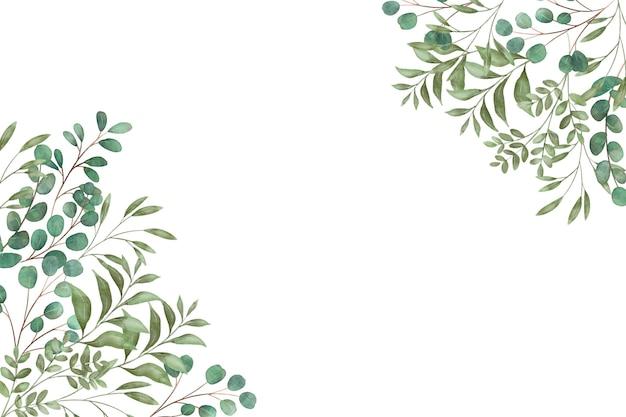 복사 공간 열 대 잎 프리미엄 벡터