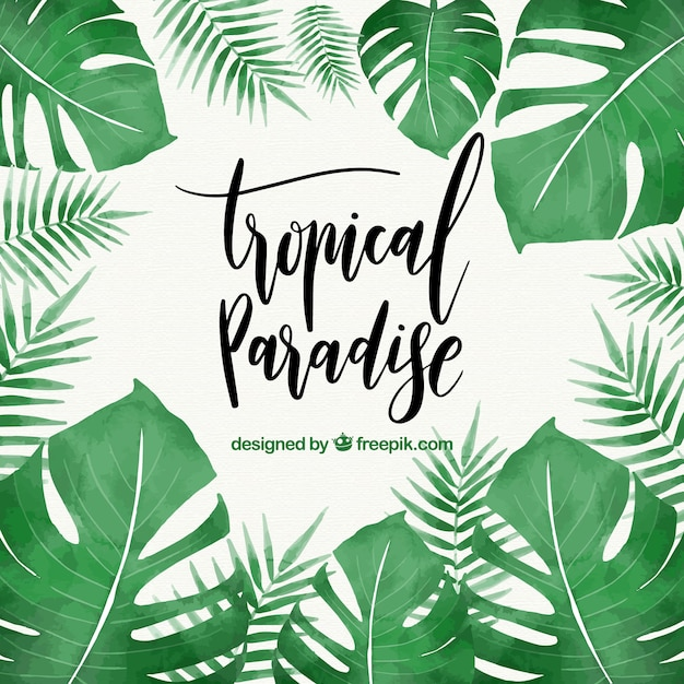 Tropical Leaves Vector Free Download Cool Tropical Leaves Pattern