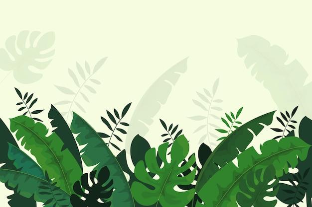 Тропический дизайн настенных обоев Бесплатные векторы