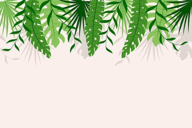 Tropical mural wallpaper Free Vector