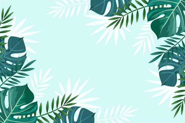 熱帯の壁画の壁紙 Premiumベクター