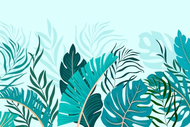 Carta da parati murale tropicale Vettore gratuito