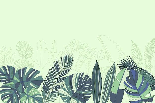 熱帯の壁画の壁紙 無料ベクター