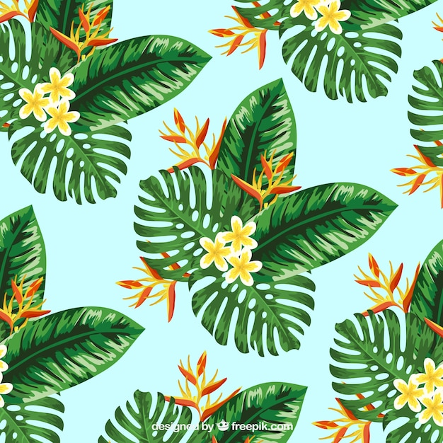 Download Vector Tropical Palm Leaves Background Vectorpicker Check out our tropical wallpaper selection for the very best in unique or custom, handmade pieces from our wall décor shops. tropical palm leaves background