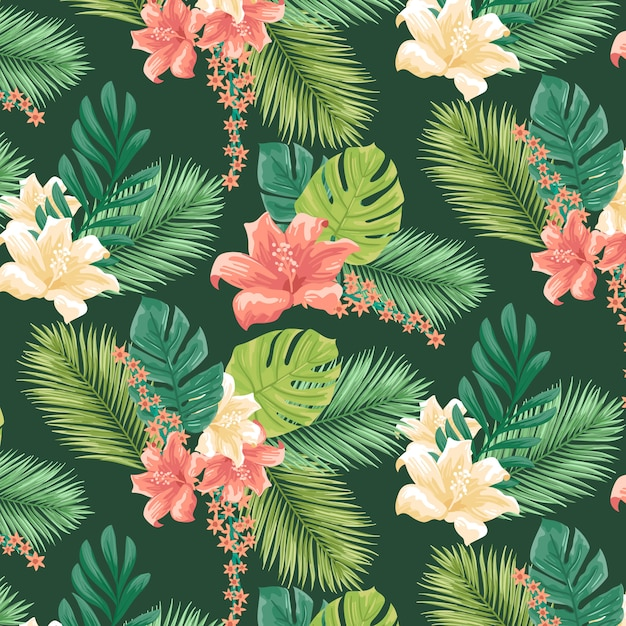 Tropical pattern Free Vector