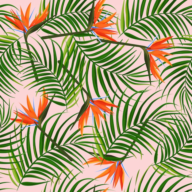 Tropical pattern. Premium Vector