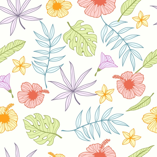 Tropical seamless pattern for wallpaper Premium Vector