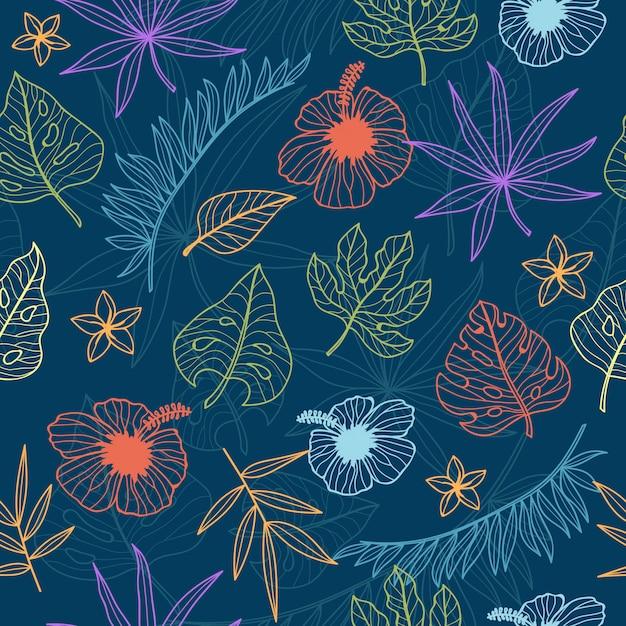 Tropical seamless pattern for wallpaper Premium Vector
