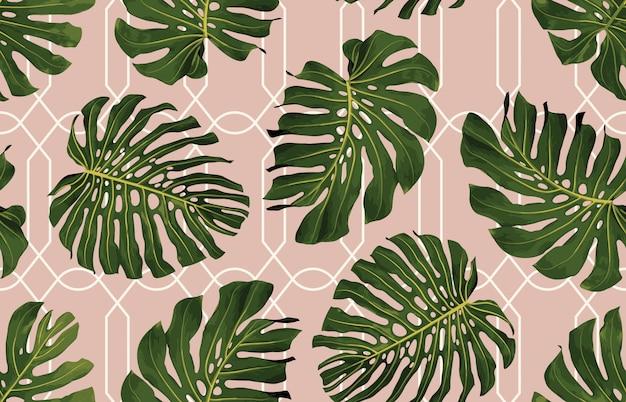 Tropical seamless pattern Premium Vector