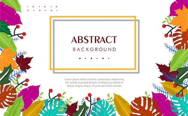 Tropical summer abstract background Premium Vector