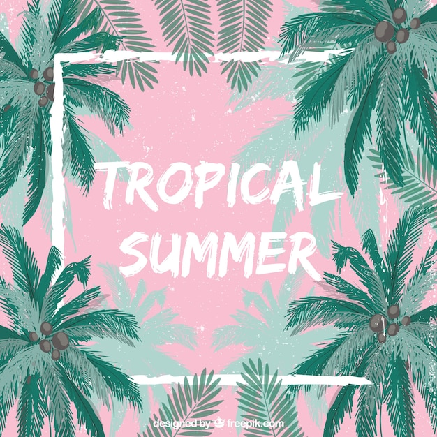 Tropical summer background Vector | Free Download