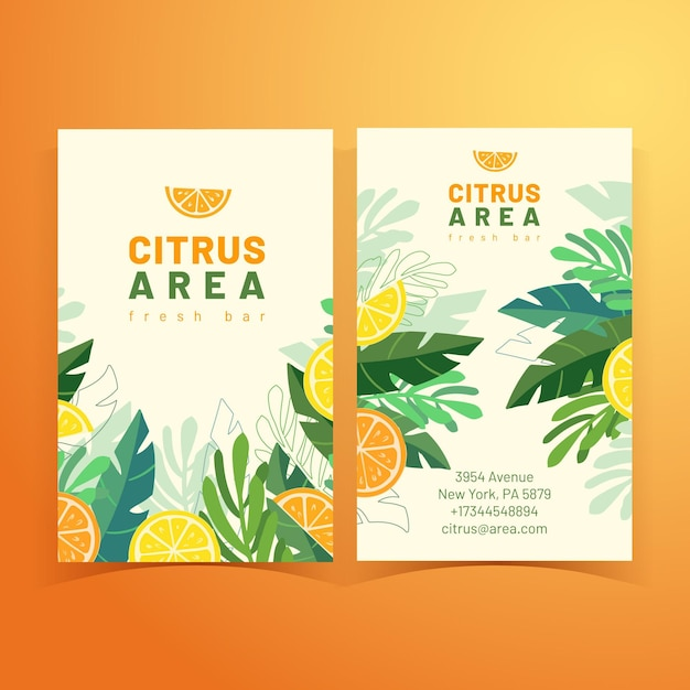 熱帯の夏のビジネスカード 無料ベクター