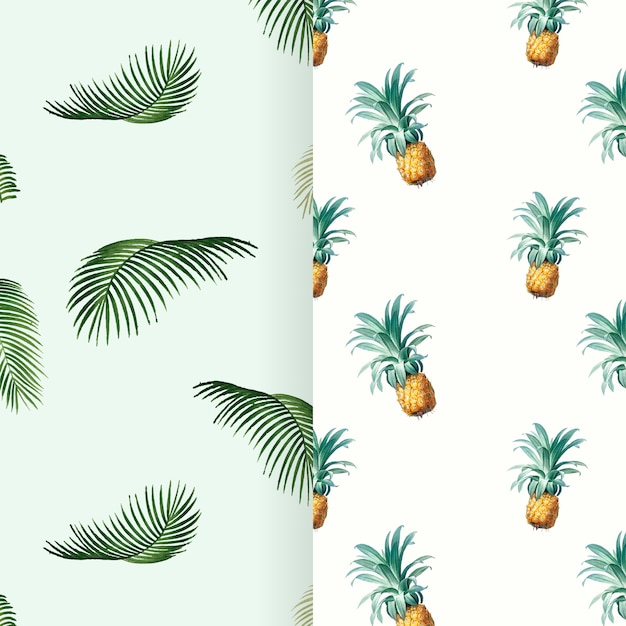 Tropical summer pattern illustration Free Vector