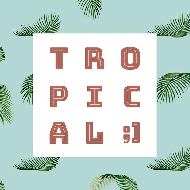 Tropical summer pattern illustration Free Vector