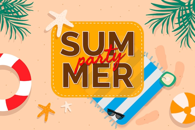 Tropical summer promotion Free Vector