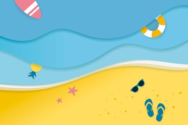 Tropical summer vacation Free Vector