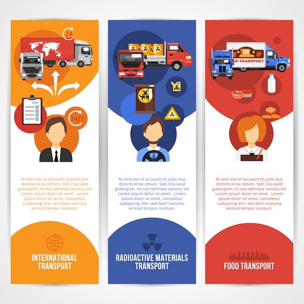 Truck banners template set Premium Vector