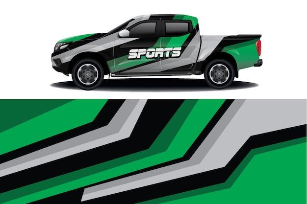 Дизайн наклейки на грузовик Premium векторы