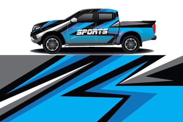 Дизайн наклейки для грузовиков и автомобилей Premium векторы