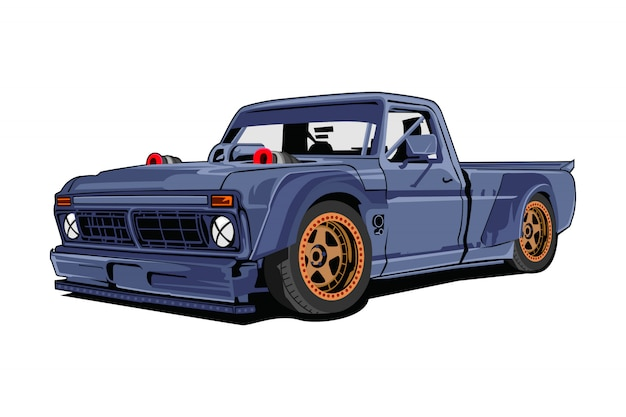 Truck car illustration Premium Vector
