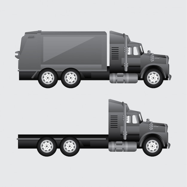 Truck for delivery Free Vector