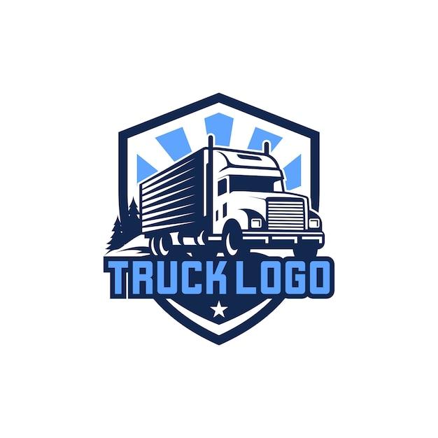 Truck logo vector stock image Premium Vector